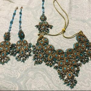 Jewelry - 4 piece Blue Indian Jewelry Set